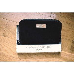 Adrienne Vittadini Black Velvet  Wallet /Wristlet